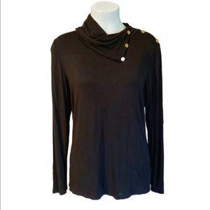 Michael Kors Black Long Sleeve Top
